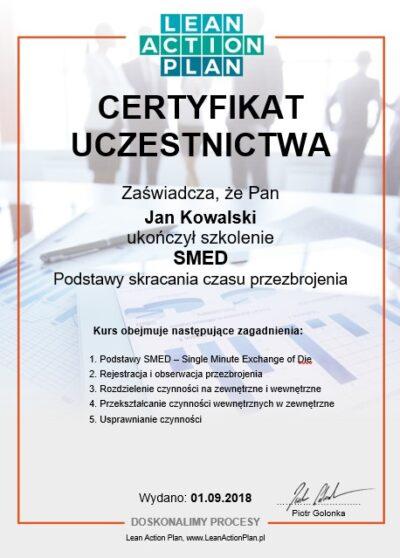Certyfikowany kurs SMED