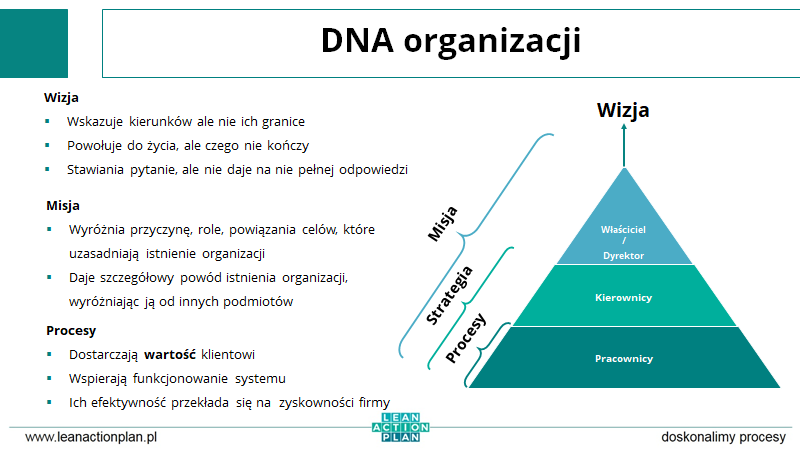 DNA organizacji, przedsiębiorstwa