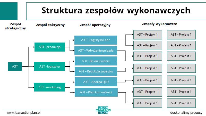 Struktura zespołów wykonawczych