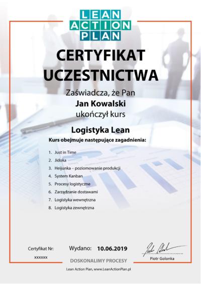 Certyfikowany kurs online Logistyka Lean