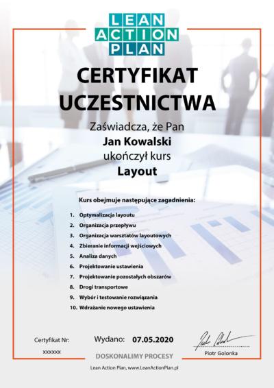 Certyfikowany kurs Layout