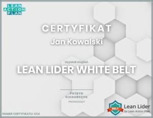 Lean lider white belt