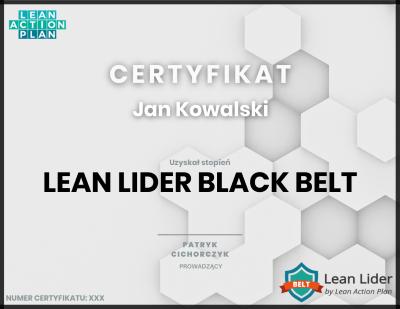 Lean Lider Black Belt