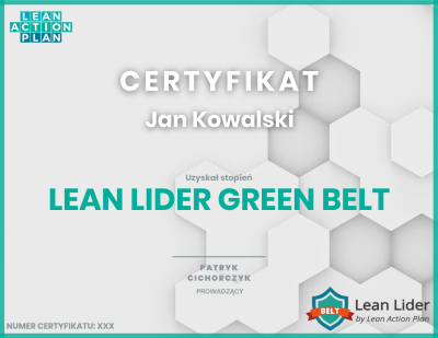 Lean lider Green belt